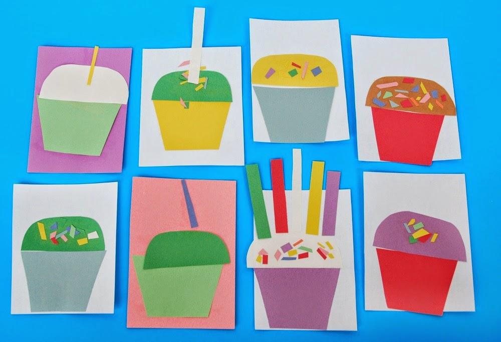 Fine Motor Cupcake Craft For Kids
