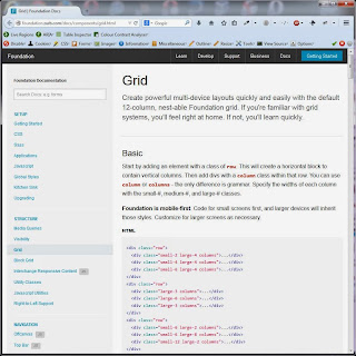 Screen shot of http://foundation.zurb.com/docs/components/grid.html, the redirect destination of the old page.