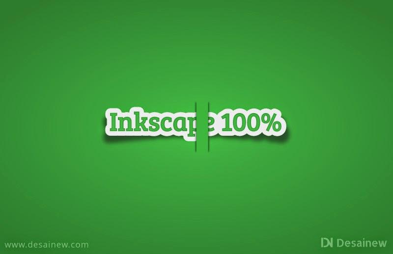 Membuat efek label teks realistis di inkscape atau How to make a realistic text labels in Inkscape