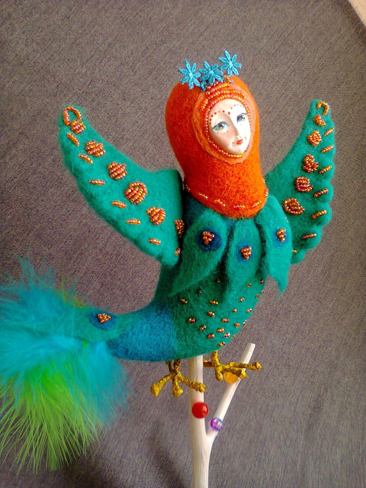 Как сделать куклу-птицу