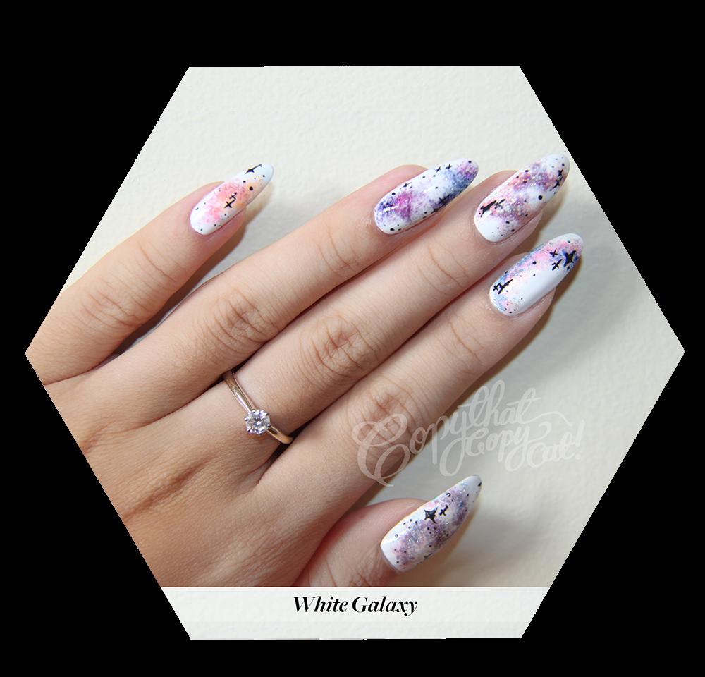 White Galaxy Nails & Nail e back
