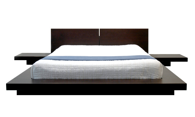 platform bed is a raised flat hard wooden or metal platform on which ...