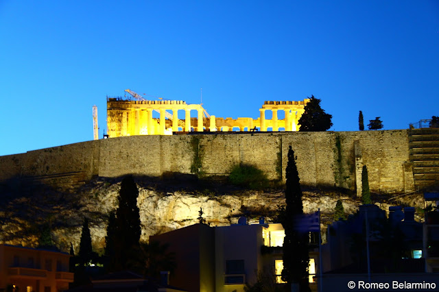 Acropolis View from Point α Bar at Herodion Hotel Athens Rooftop Bars