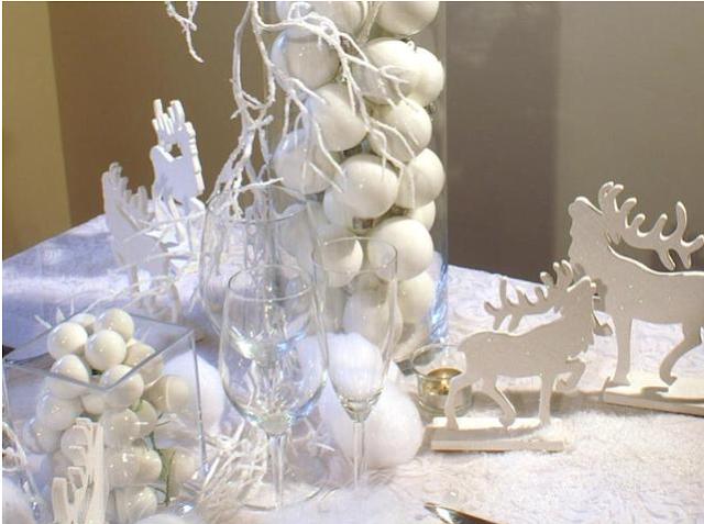 D coration 100 zen no l en blanc - Deco noel jardin d ulysse ...
