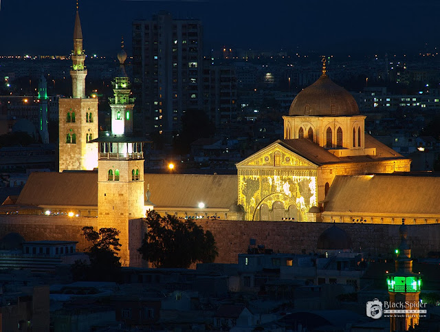 Umayyad Mosque at night