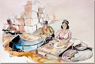 Saj Bread, Painter Kaissi, date 1970