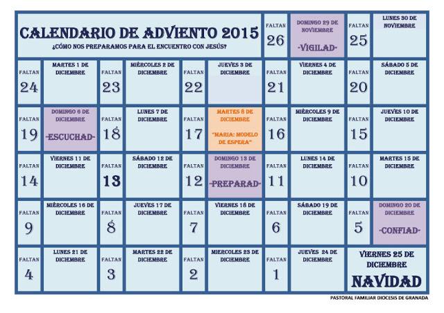 Blog cat lico gotitas espirituales im genes del for Calendario adviento 2017