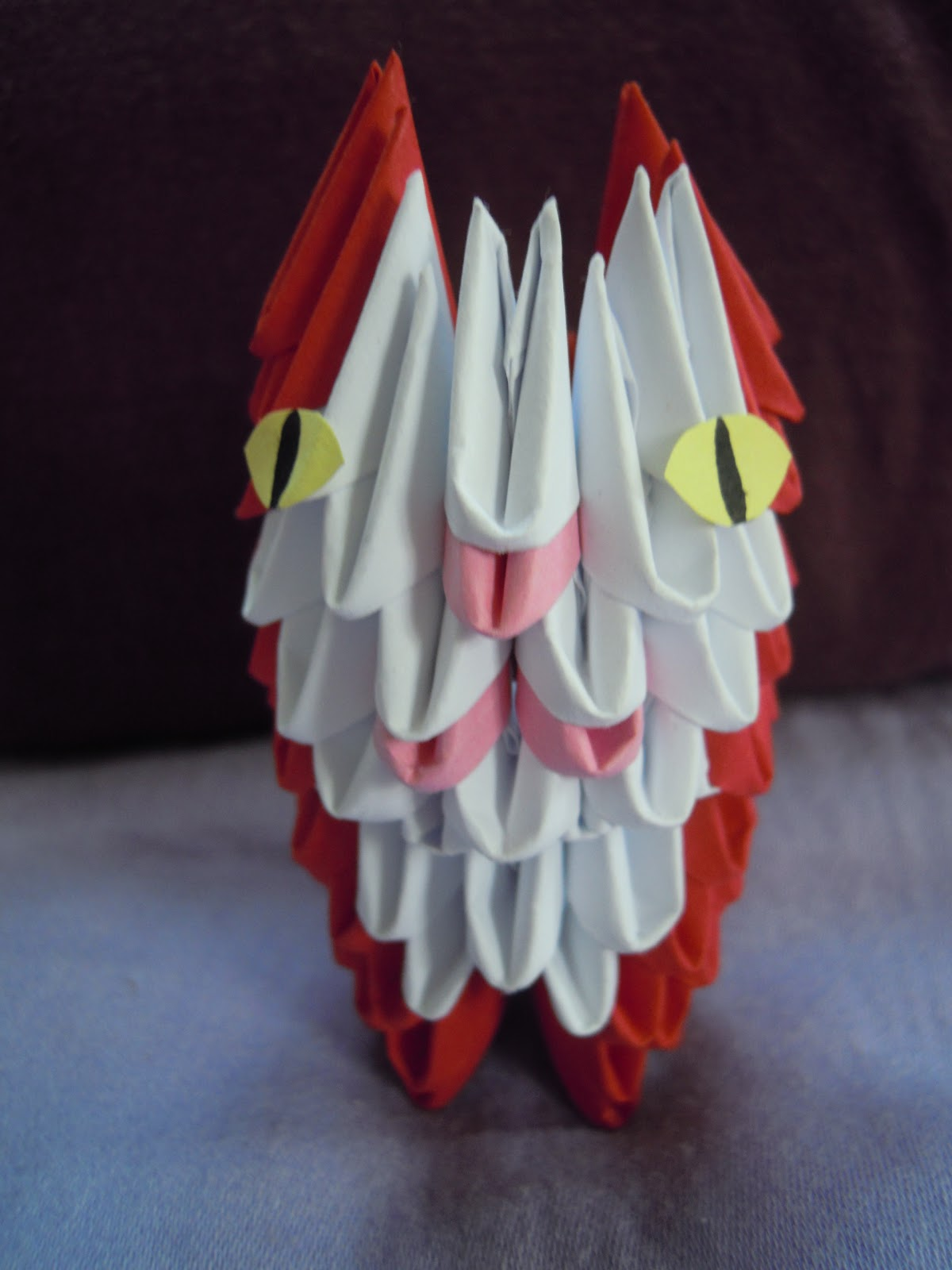 anleitung 3d origami katze kammis blog. Black Bedroom Furniture Sets. Home Design Ideas
