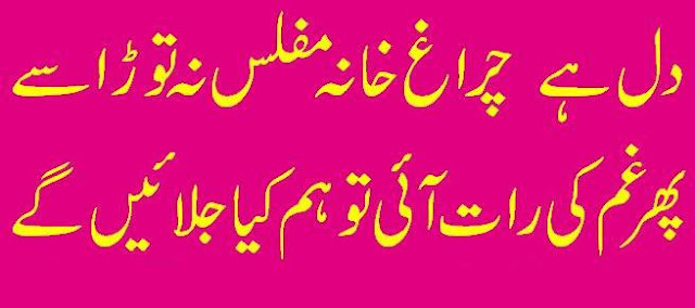 2 Lines Urdu Poetry about heart