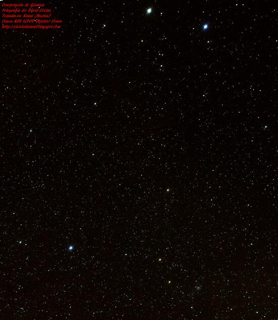 Constelacion de Geminis - El cielo de Rasal