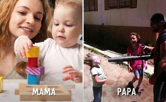 7 Perbezaan Ketara Cara Ibu Ayah Membesarkan Anak