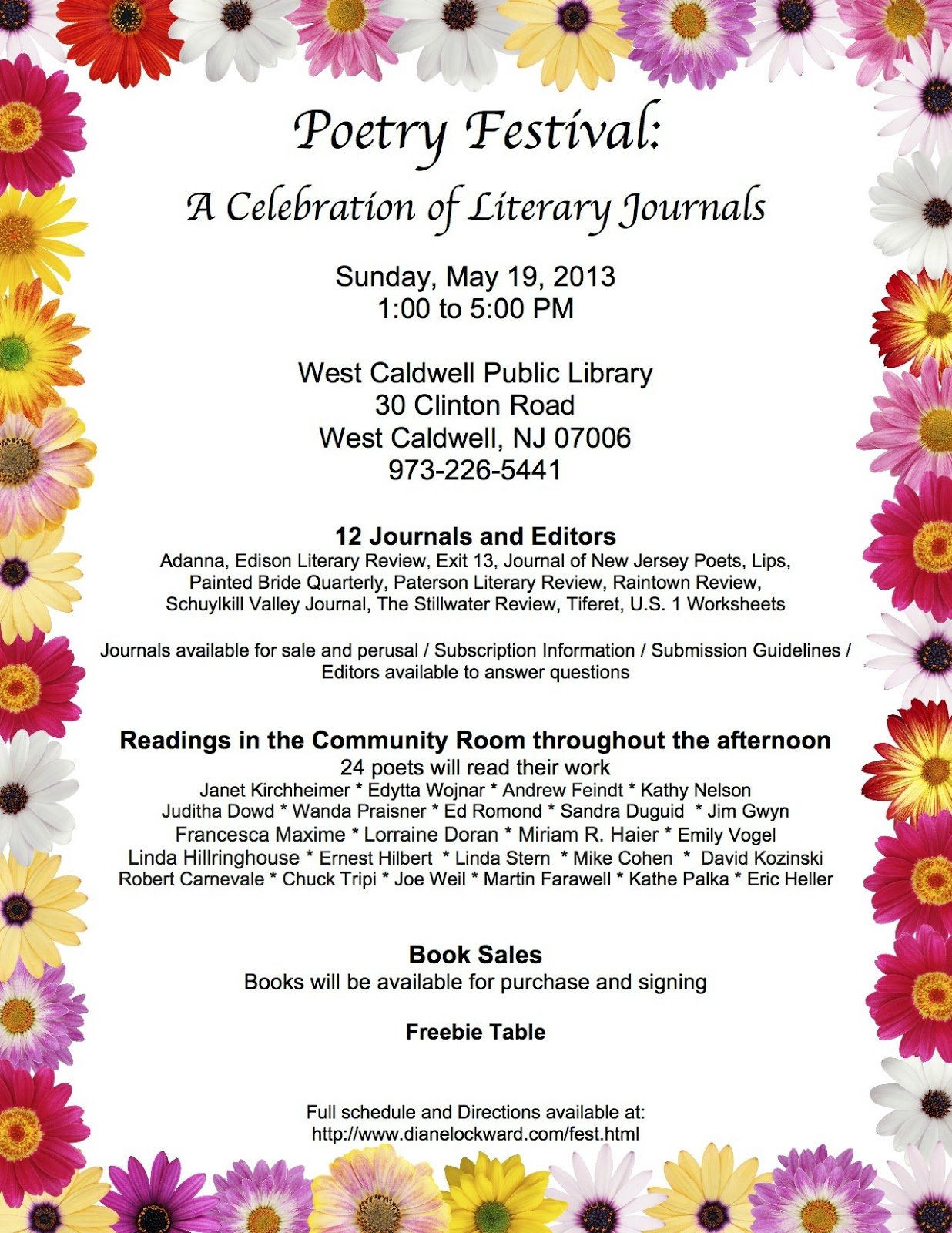 Blogalicious may 2013 poetry festival a celebration of literary journals izmirmasajfo