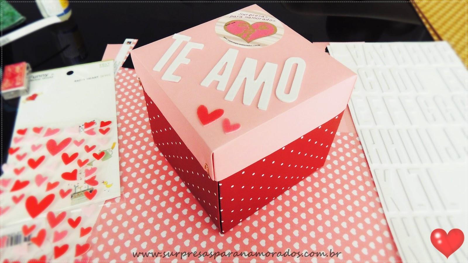 caixa para namorado