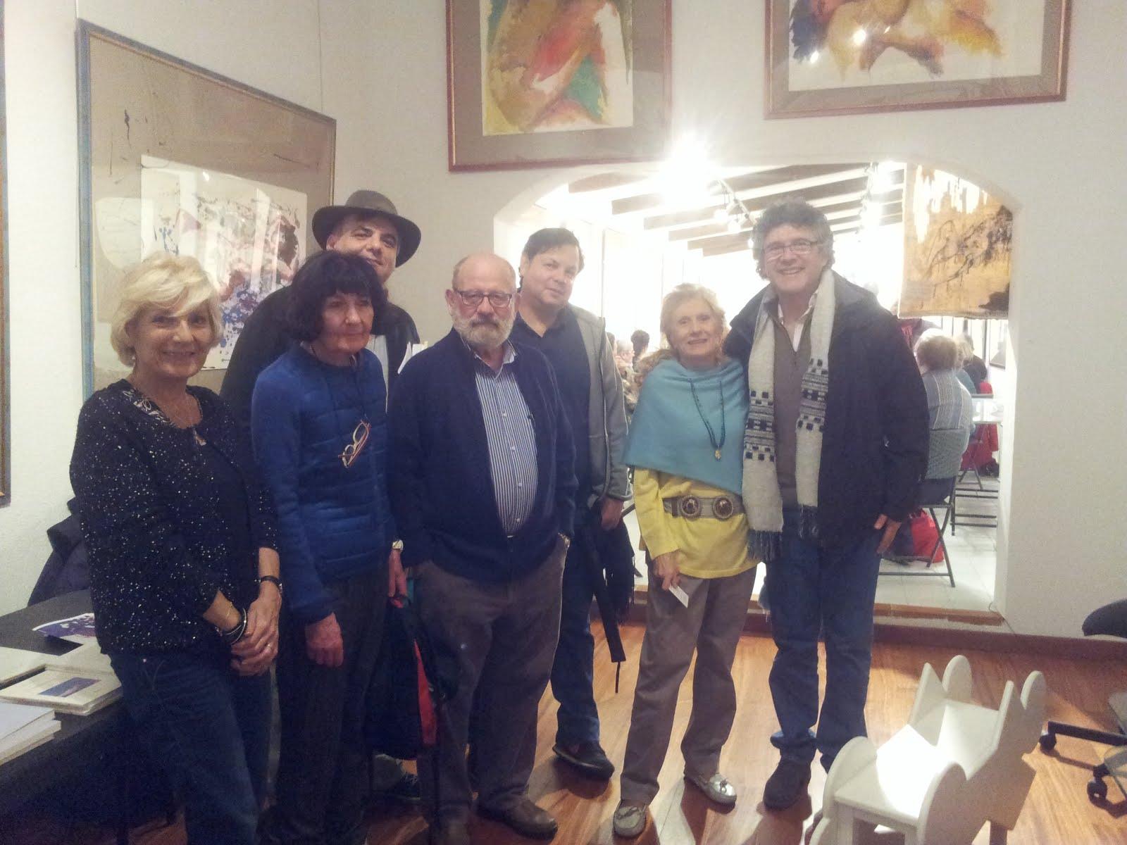 Nicole et Georges Drano, Christophe Corps, Francisco Calderon, Evy Grandie et Patricio Sanchez.