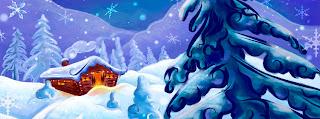 Ngôi nhà mùa đông giáng sinh