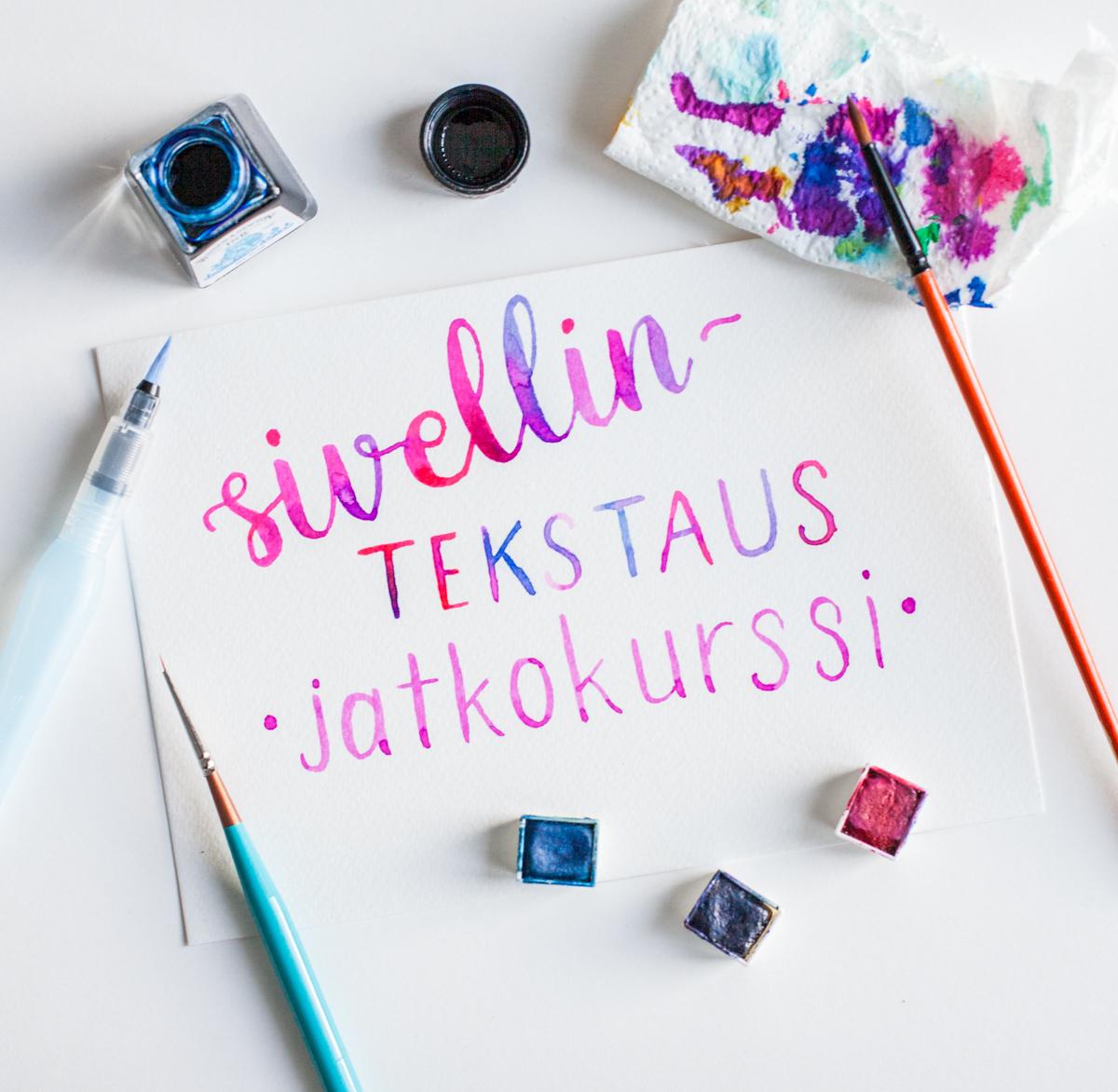 Sivellintekstaus - jatkokurssi / Turku