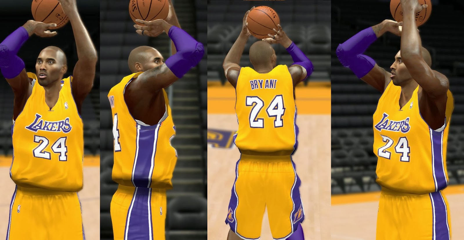 njcfkh NBA 2k14 All LA Lakers Jersey Patch Pack Download - HoopsVilla