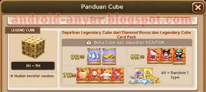 Cara dan Trik Mendapatkan Legendary Cube Get Rich 13 Oktober 2015