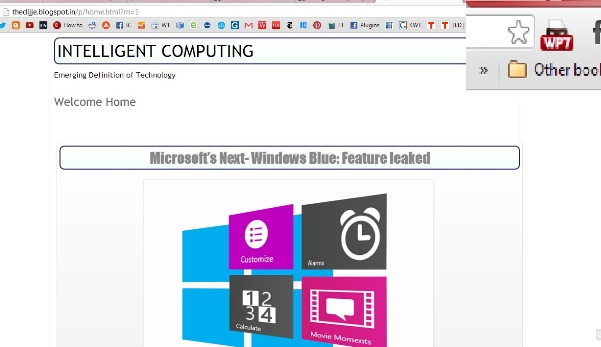 Screenshot of Intelligent Computing on Windows phone 7 on Google chrome