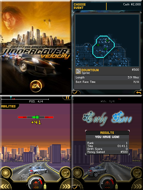 Need for Speed Undercover: Velocity 240 x 320 Touchscreen Mobile Java Game