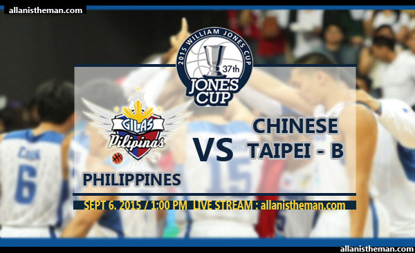 JONES CUP 2015: Gilas Pilipinas vs Chinese Taipei B FREE LIVE STREAMING