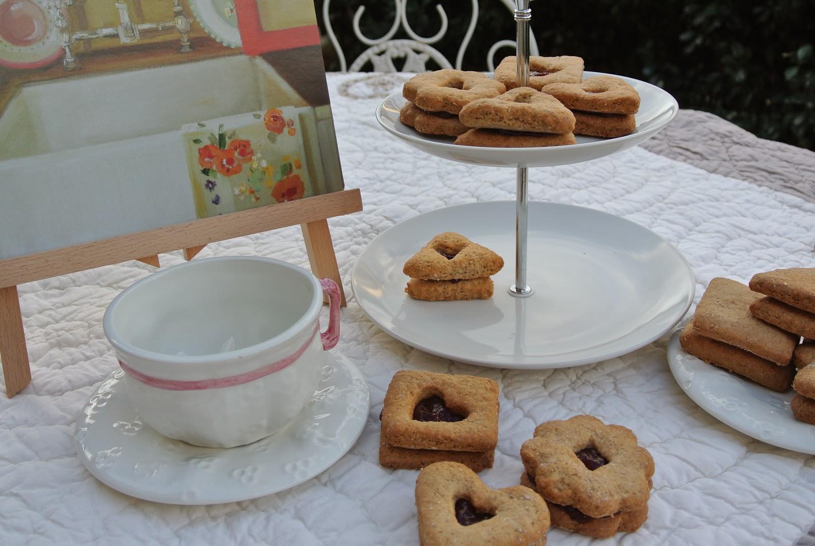 biscotti con infuso di ribes nero ginseng e vaniglia