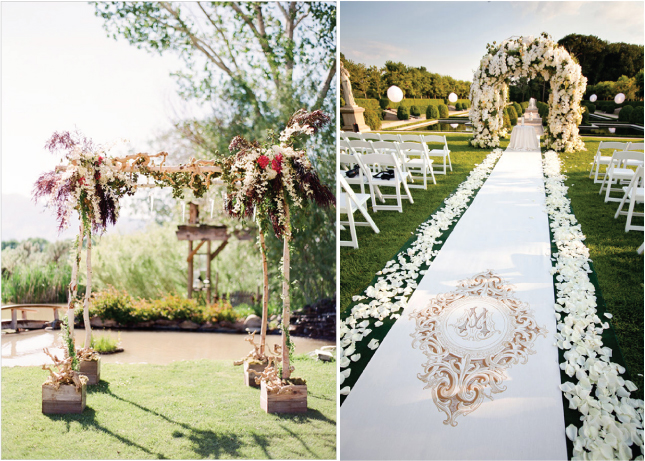 wedding ceremony decor altars canopies arbors arches and chuppahs belle the magazine. Black Bedroom Furniture Sets. Home Design Ideas