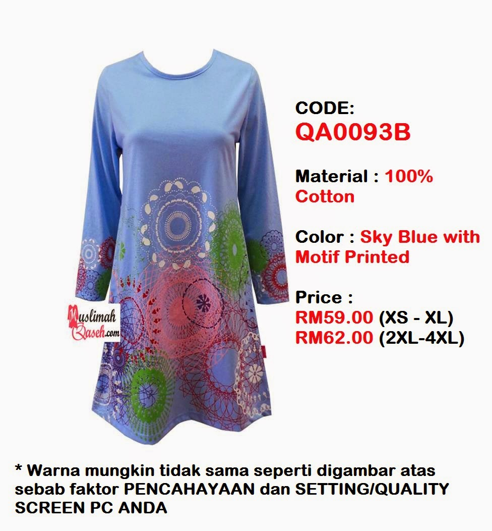 T-Shirt-Muslimah-Qaseh-QA0093B