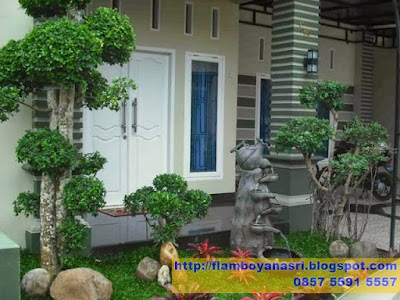 Tukang Taman Surabaya Taman Minimalis Kombinasi patung