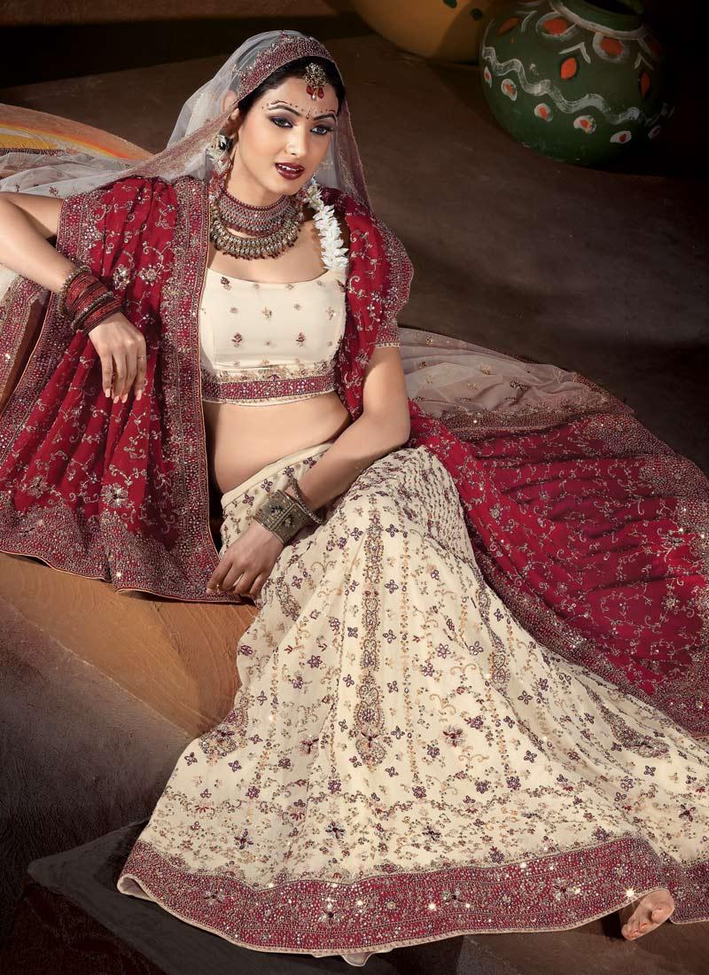 Indian White Wedding Dress