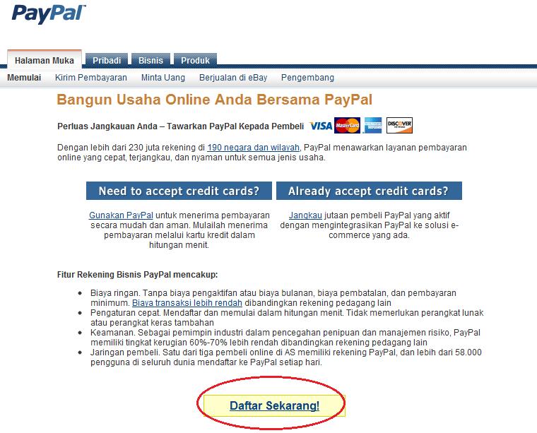 Cara Mendaftar Paypal