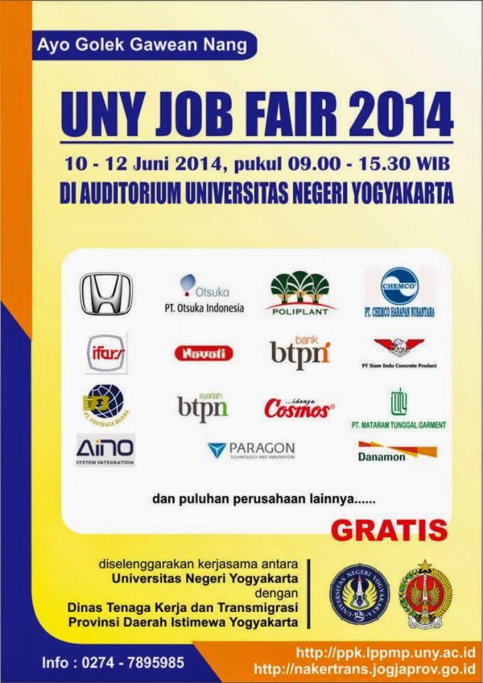 Job Fair UNY Jogja Juni 2014