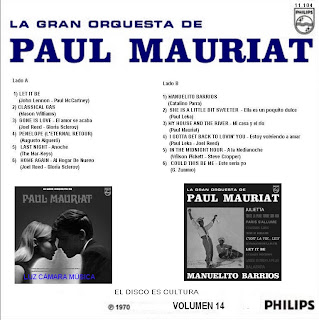 Paul Muriat y su Orquesta Vol.14 Vol.+14+back