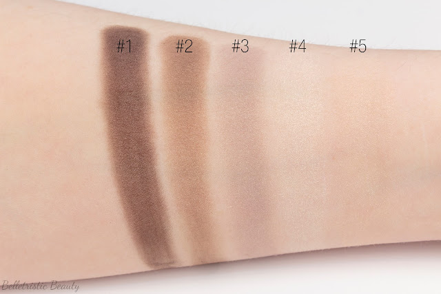 Yves Saint Laurent Saharienne 4 Eyeshadow Couture Palette 5 Color Ready To Wear brush swatches in studio lighting
