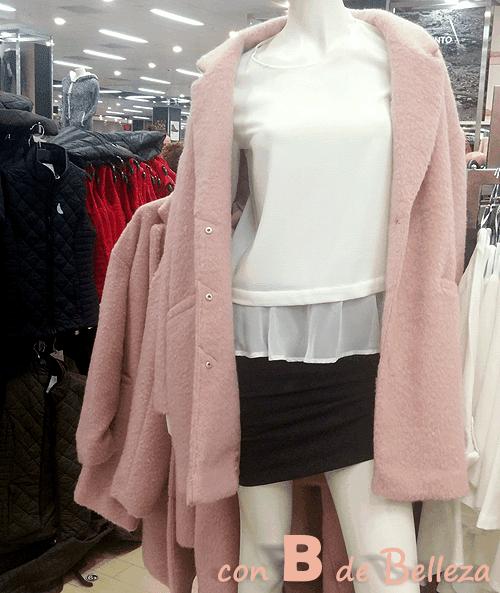 Abrigo rosa palo