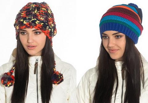 Модные вязаные шапки 2015-2016 своими руками со схемами