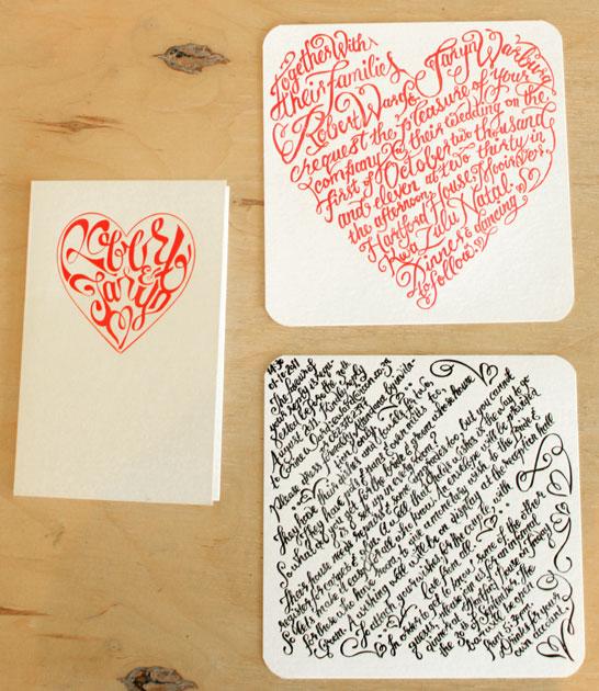 Essie letterpress wedding invitation diy design