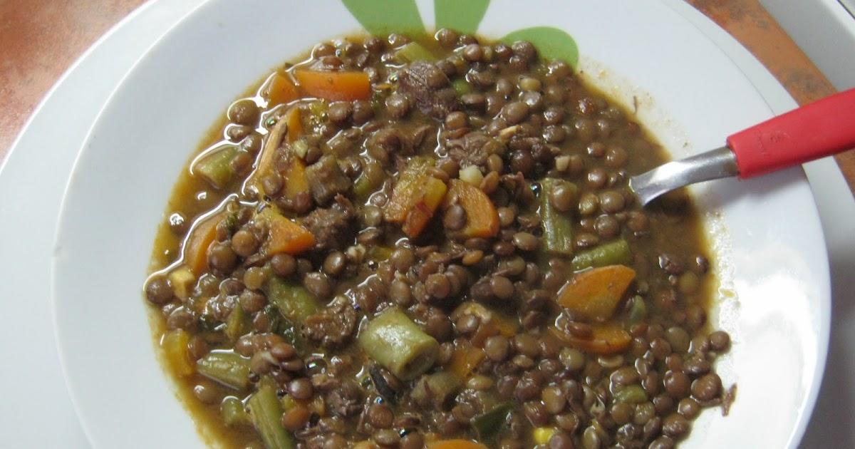 La negra cocina guiso de lentejas con verduras for Cocinar lentejas con verduras