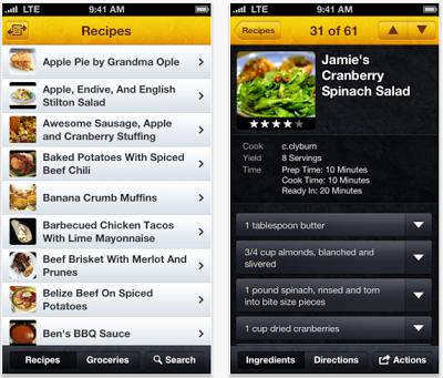 SousChef iPhone App