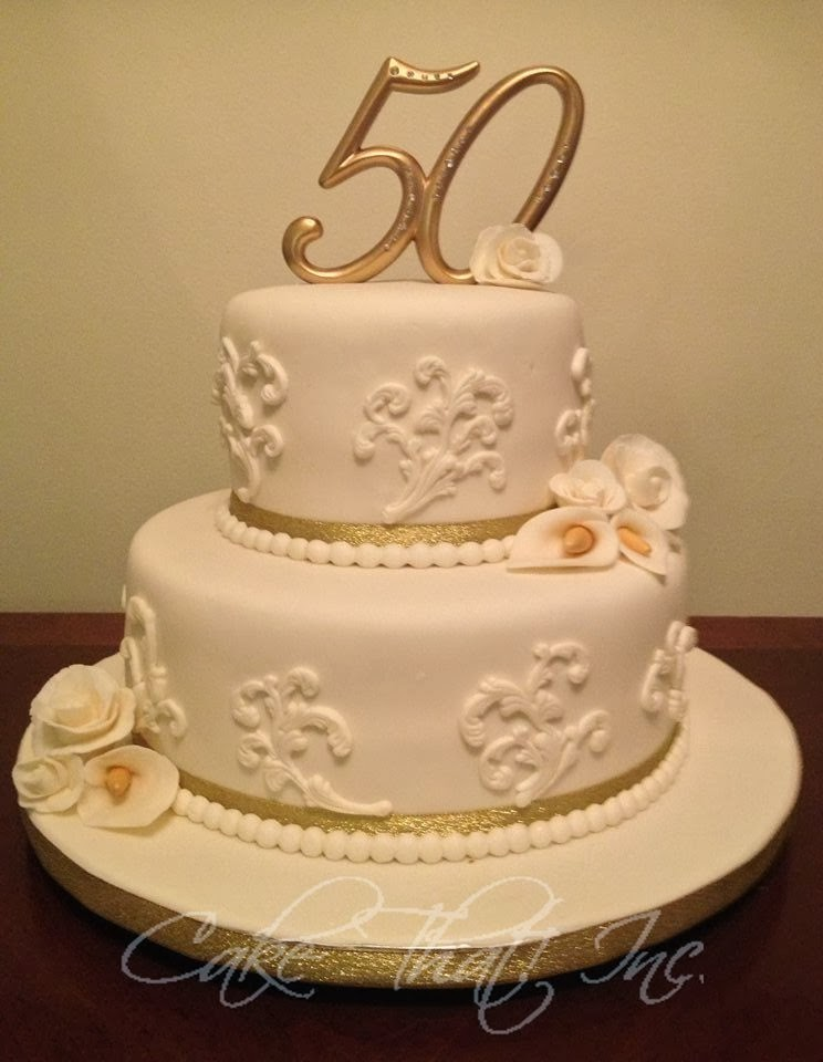 Image 50th Wedding Anniversary Cake Download