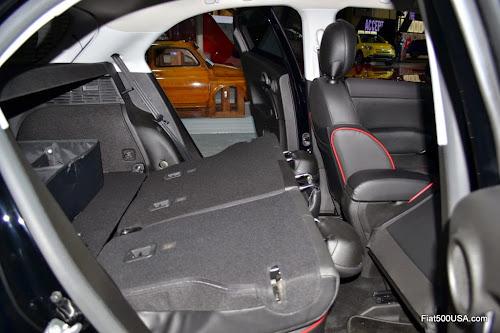 Fiat 500X Rear Seat Folds Even