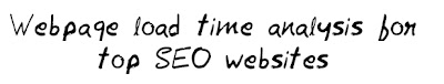 Load Time Analysis for top SEO websites MohitChar