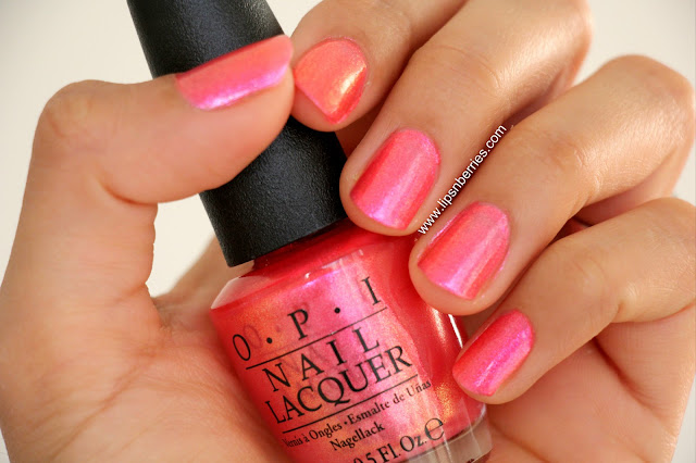 OPI can't hear myself pink nail paint