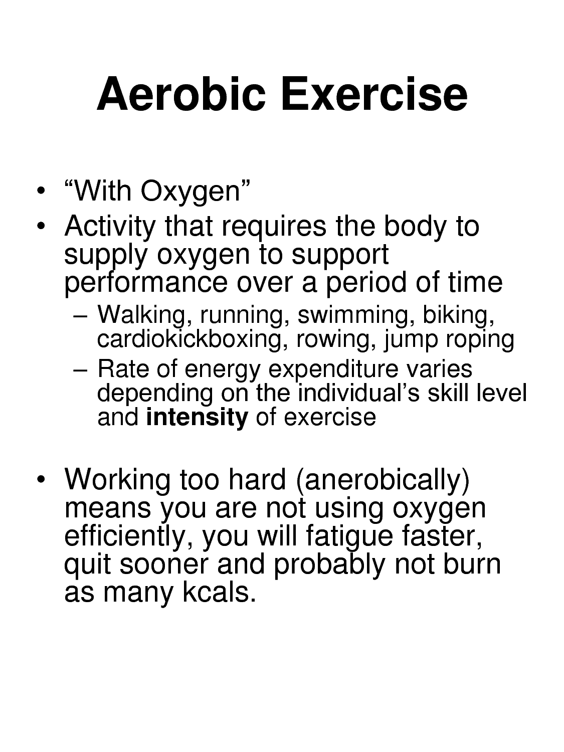 anaerobic exercise examples definition essays