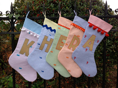 One Fun Summer nautical Christmas stockings