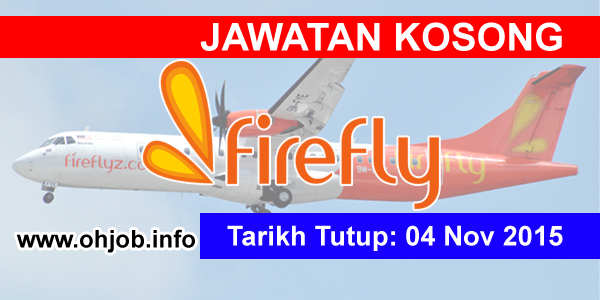 Jawatan Kerja Kosong FireFly logo www.ohjob.info november 2015