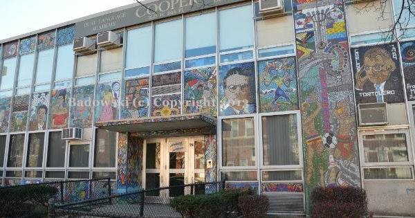 Chicago public art cooper dual language academy murals for Diego rivera mural chicago