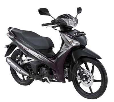 Motor Honda Supra X Helm In PGM-FI warna imperial Ungu