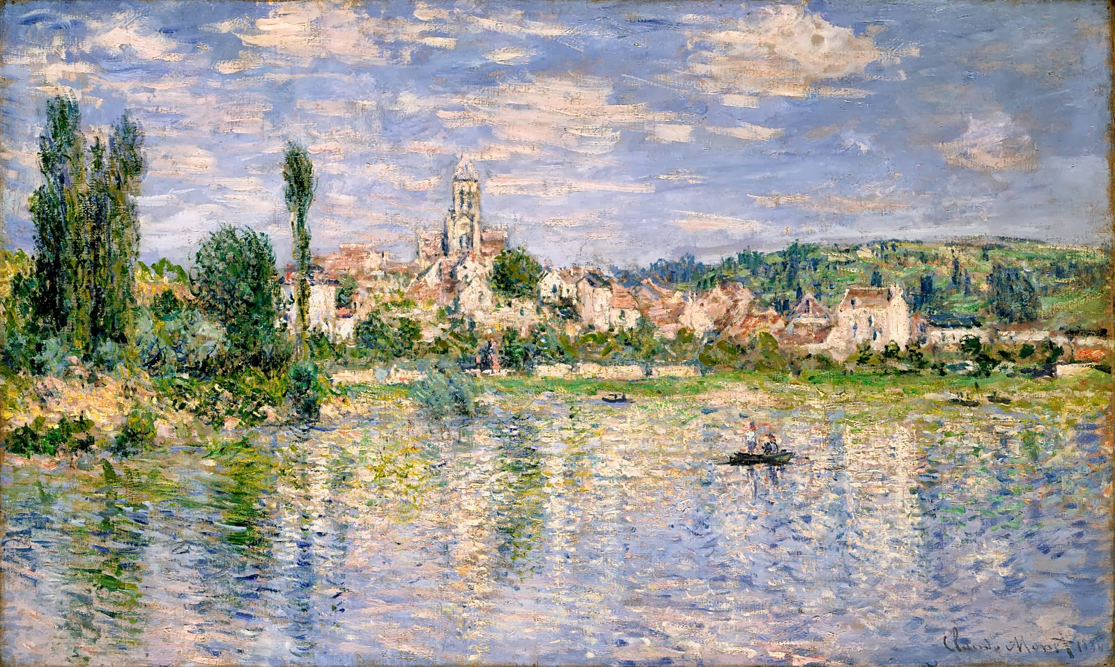 art artists claude monet part  claude monet 1880 veacutetheuil in summer oil on canvas 60 x 99 7 cm national gallery of art washington d c