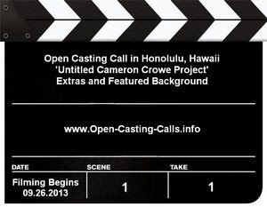 Untitled Cameron Crowe Open Casting Call Hawaii